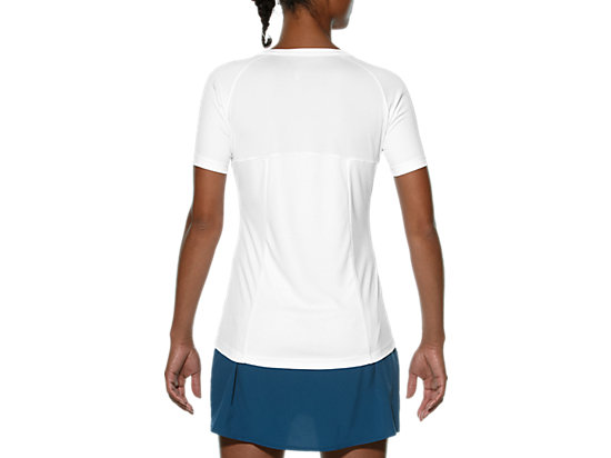 CLUB V-NECK TOP Real White/Atomic Blue 7
