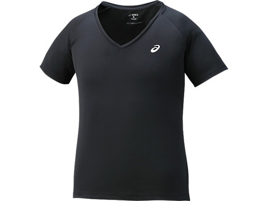 CLUB-TOP MET V-HALS, Performance Black
