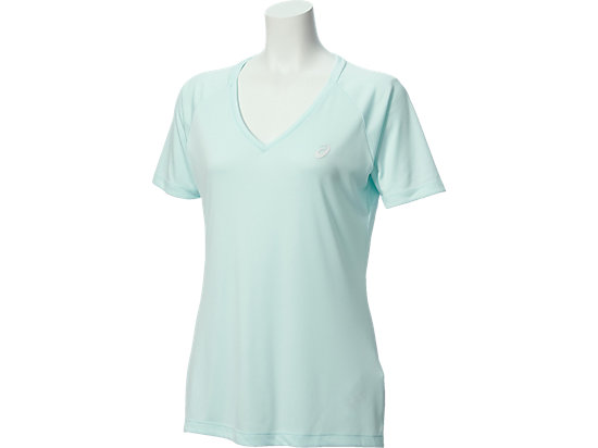 CLUB V-NECK TOP, Soothing Sea