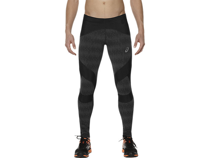 Front Top view of LB CALF TIGHT , Octagon Performance Black