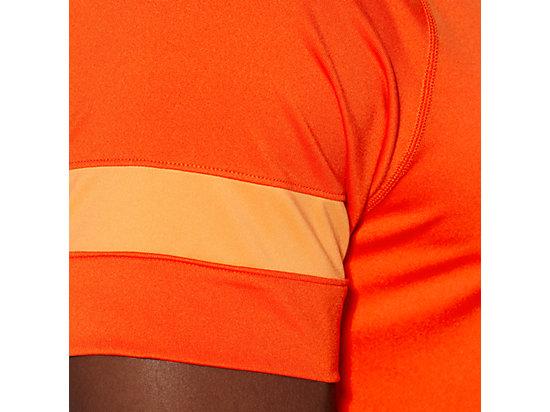 SHORT SLEEVE TOP Heather Grey/Cone Orange 11