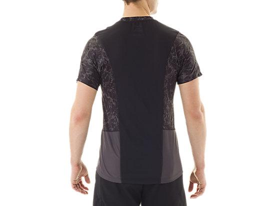 Short Sleeve Top Zero Distract Black Marble Print 7