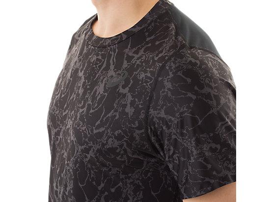 Short Sleeve Top Zero Distract Black Marble Print 15