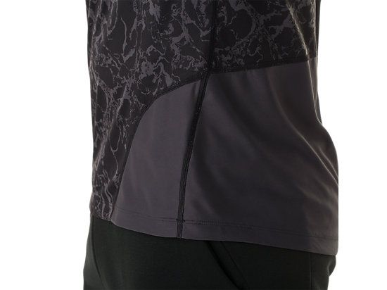 Short Sleeve Top Zero Distract Black Marble Print 19