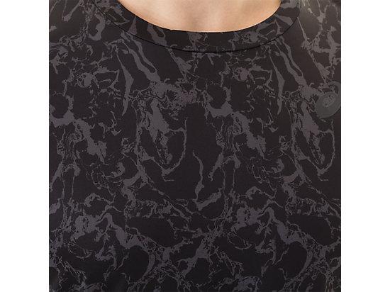 Short Sleeve Top Zero Distract Black Marble Print 27