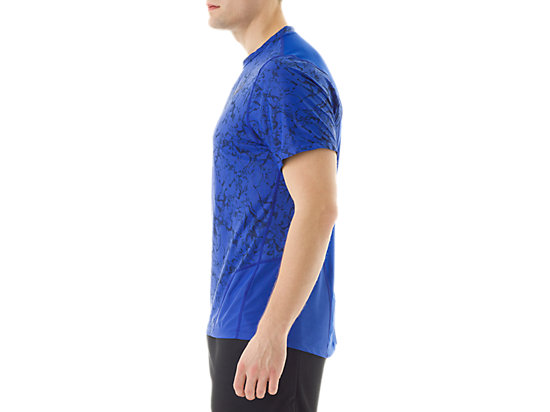 Short Sleeve Top Zero Distract Airforce Blue Marble Print 11