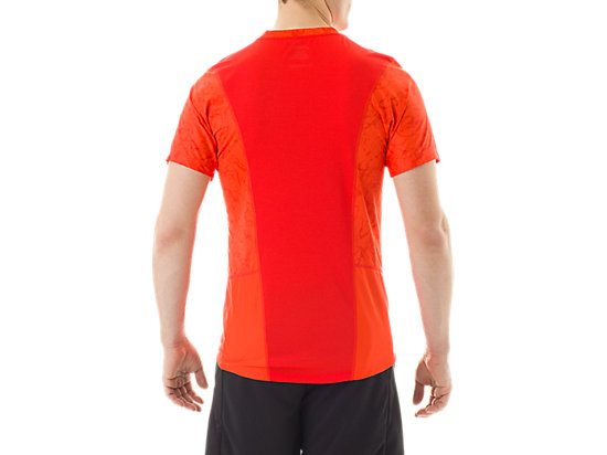 Short Sleeve Top Zero Distract Cone Orange Marble Print 7