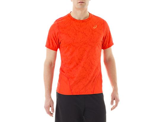 Short Sleeve Top Zero Distract Cone Orange Marble Print 3