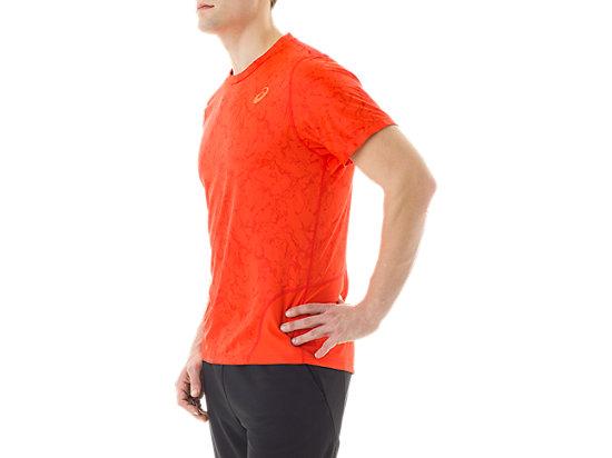 Short Sleeve Top Zero Distract Cone Orange Marble Print 11