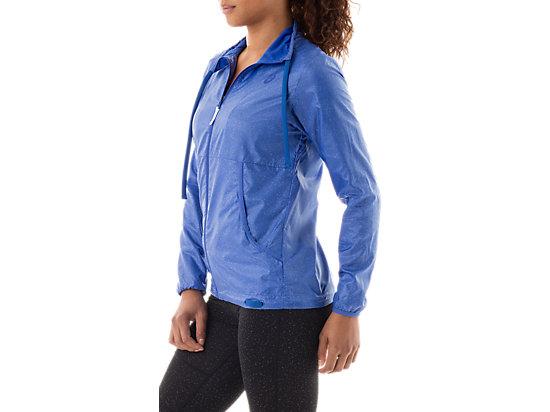 Lightweight Jacket Blue Purple Speckle Print 11