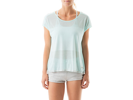 Burnout Short Sleeve Top Crystal Blue 3