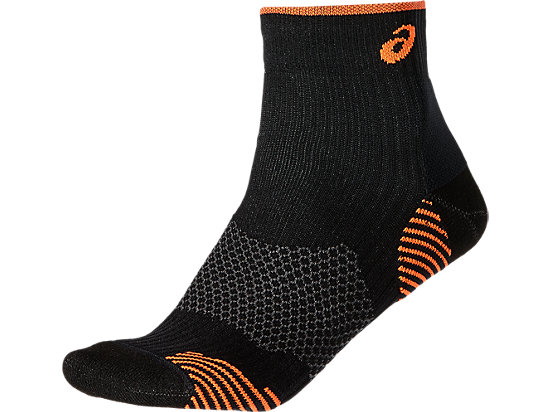RUNNING DENSITY CUSHIONING SOCK PERFORMANCE BLACK/ORANGE POP 3