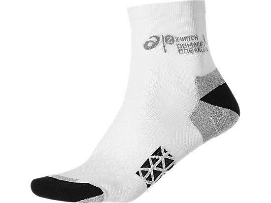 BARCELONA MARATHON RACER SOCK, Real White