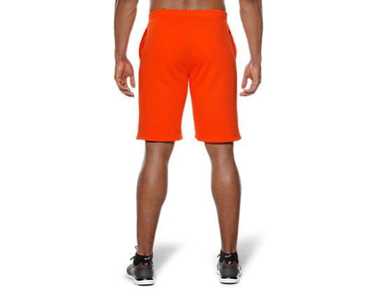 CAMOU LOGO KNIT SHORTS Heather Grey/Cone Orange 7