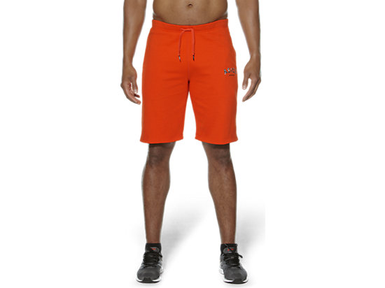 CAMOU LOGO KNIT SHORTS Heather Grey/Cone Orange 3
