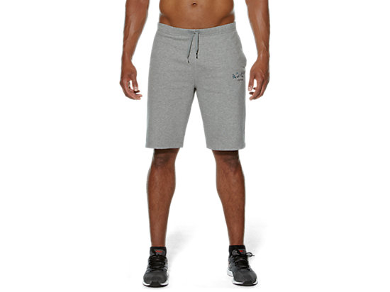 CAMOU LOGO KNIT SHORTS HEATHER GREY 3