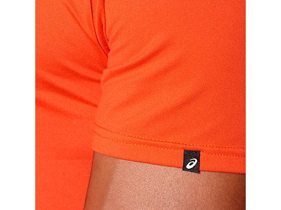 SANDED GRAPHIC SHORT SLEEVE TOP Heather Grey/Cone Orange 11