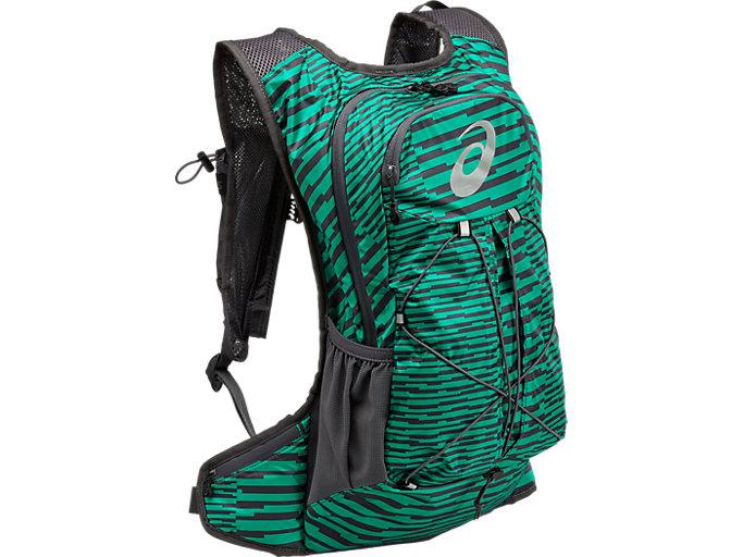 Lightweight 10L running backpack, JUNGLE GREEN/DARK GREY