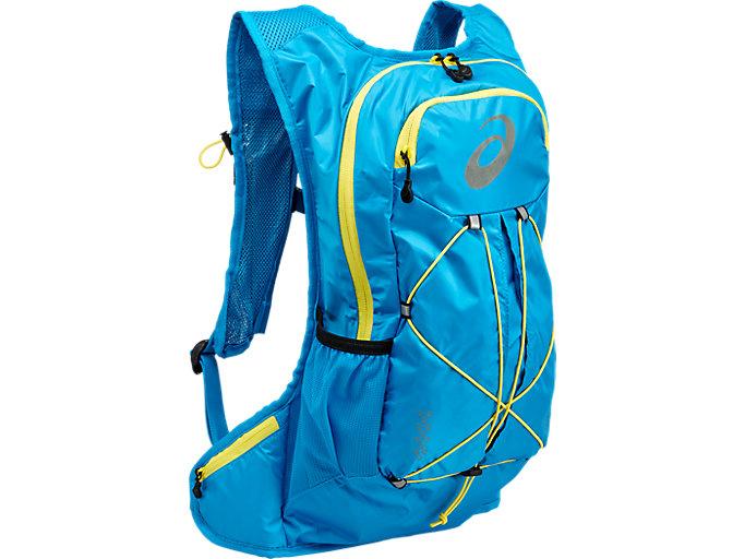 Lightweight 10L running backpack, DIVA BLUE/BLAZING YELLOW