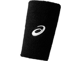 ASICS TERRY DOUBLE WIDE WRISTBAND, Performance Black