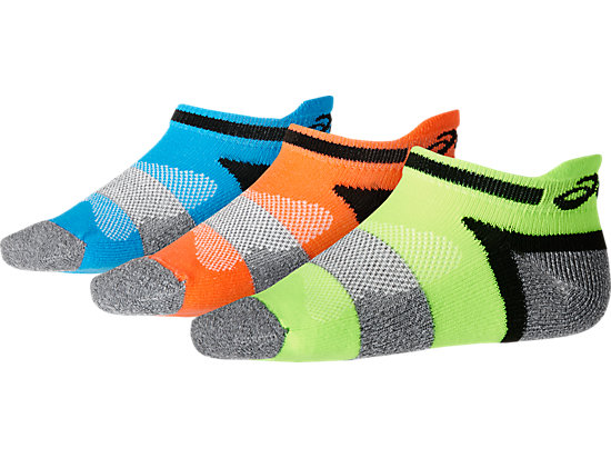 3PPK LYTE YOUTH SOCKS ORANGE POP ASSORTED 3 FT