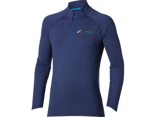 LONG SLEEVE 1/2 ZIP JERSEY DEEP COBALT 3