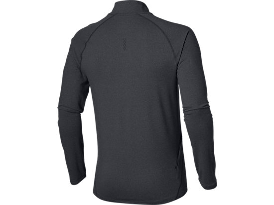 LANGARMSHIRT MIT REIßVERSCHLUSS PERFORMANCE BLACK HEATHER 15 BK