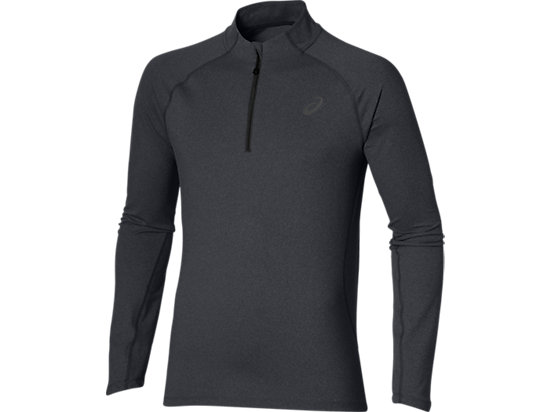 MAGLIA MANICA LUNGA CON MEZZA ZIP PERFORMANCE BLACK HEATHER 3