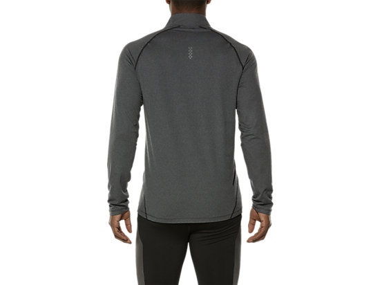 LONG SLEEVE HALF ZIP JERSEY PERFORMANCE BLACK HEATHER 19