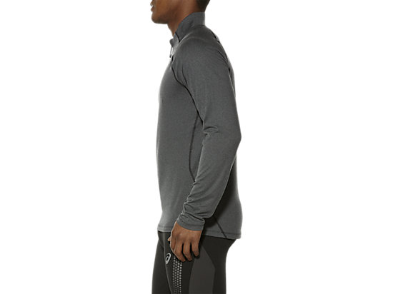 LONG SLEEVE HALF ZIP JERSEY PERFORMANCE BLACK HEATHER 11