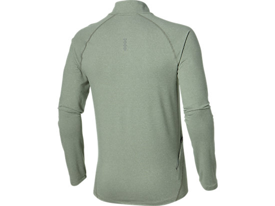 LONG SLEEVE HALF ZIP JERSEY EUCALYPTUS HEATHER 15