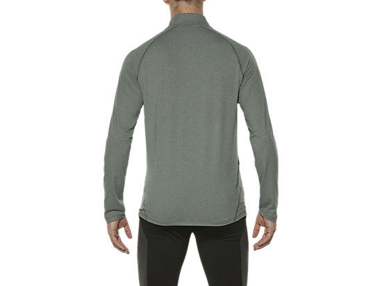 LONG SLEEVE HALF ZIP JERSEY EUCALYPTUS HEATHER 19