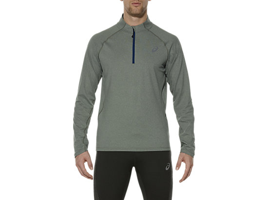 LONG SLEEVE HALF ZIP JERSEY EUCALYPTUS HEATHER 3