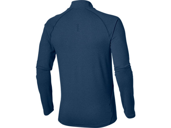 LONG SLEEVE HALF ZIP JERSEY POSEIDON HEATHER 15