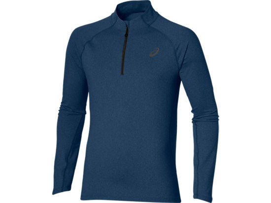 LONG SLEEVE HALF ZIP JERSEY POSEIDON HEATHER 3