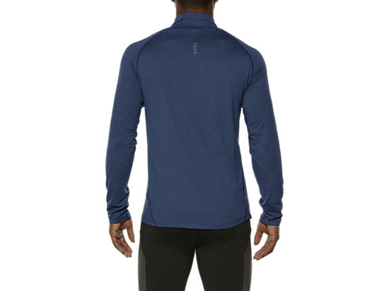LONG SLEEVE HALF ZIP JERSEY POSEIDON HEATHER 19
