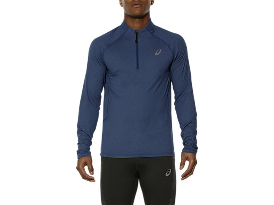 LONG SLEEVE HALF ZIP JERSEY POSEIDON HEATHER 7