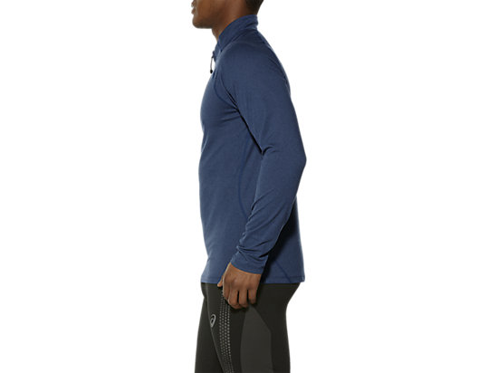 LONG SLEEVE HALF ZIP JERSEY POSEIDON HEATHER 11