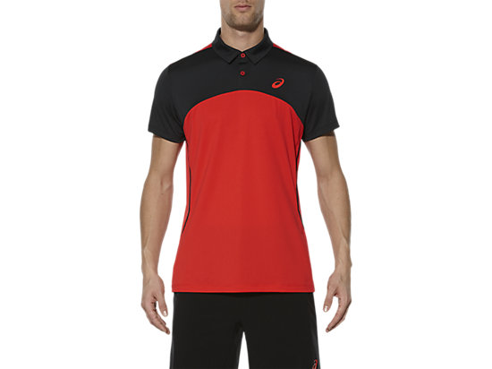 PADEL-POLOSHIRT FIERY RED 3 FT