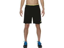 PADEL SPELERSSHORT, Performance Black/ Safety Yellow