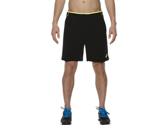 PADEL PLAYERS SHORT PERFORMANCE BLACK/ SAFETY YELLOW 3 FT