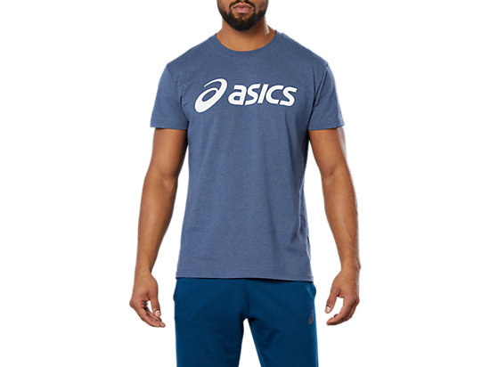 SPORT LOGO TEE, POSEIDON HEATHER