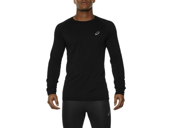 LONG-SLEEVED SEAMLESS TOP, Performance Black