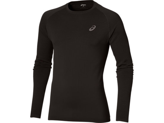 LONG-SLEEVED SEAMLESS TOP PERFORMANCE BLACK 3