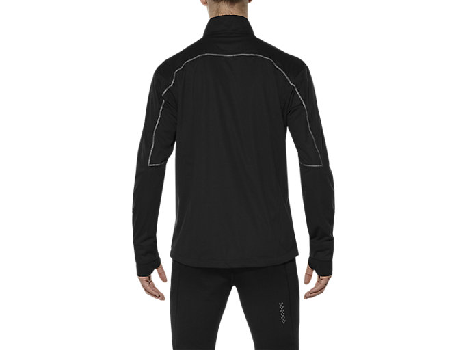 Back view of ACCELERATE JACKET, PERFORMANCE BLACK