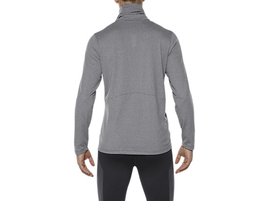 THERMOPOLIS TOP MET LANGE MOUWEN EN HALVE RITS DARK GREY HEATHER 11