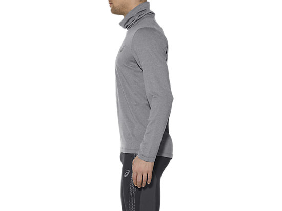THERMOPOLIS TOP MET LANGE MOUWEN EN HALVE RITS DARK GREY HEATHER 7