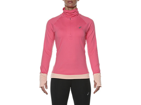 THERMOPOLIS HALF-ZIP LONG SLEEVED TOP CAMELION ROSE 3 FT