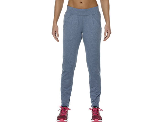 Front Top view of THERMOPOLIS RUNNING PANT, Poseidon