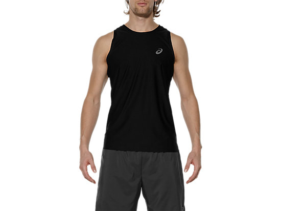 RUNNING SINGLET PERFORMANCE BLACK 3